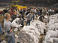 FEMA - 40289 - Sand bagging operation at the Fargo Dome in North Dakota.jpg