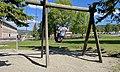 FRYAL SKOLE Søndre Land kommune, Norway. Barn leker husker sykler Parkering Søndre Land-hallen uteområde Sol (School Children Sunny ) 2021-06-02 IMG 2087.jpg