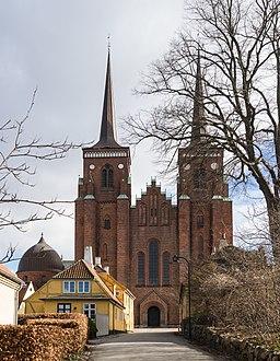 Facade Roskilde cathedral Denmark