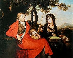 Portret Gabriela Taszyckiego z rodziną