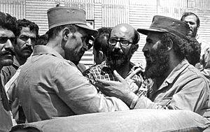 Mostafa Chamran - Valiollah Fallahi, Chamran and Abbas Aghazamani after liberation of Paveh
