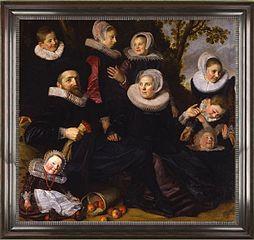 Portrait de la famille Van Campen dans un paysage  (fragment)