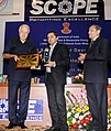 "Farooq Abdullah gave away the ""Certificate of Appreciation"" and Trophies to Solar Power Developers for their best performance, at a function, in New Delhi on September 25, 2013 (2).jpg"
