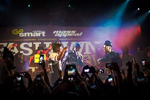 Fashawn - Fashawn is joined by Nas and Aloe Blacc during The Ecology album release concert in Los Angeles.