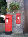 Father and daughter postboxes, Wylam - geograph.org.uk - 1065854.jpg