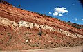 Fault in redbeds (Chugwater Formation, Upper Triassic; Red Hill, Seminoe Mountains, Wyoming, USA) 2.jpg