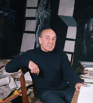 Feliks Topolski - Feliks Topolski in 1973, photographed by Allan Warren