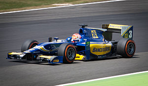 Felipe Nasr - Nasr competing for Carlin, during the 2014 GP2 Series season, at Silverstone. Nasr won the sprint race at Silverstone – his third of four victories in 2014 – en route to third in the championship.