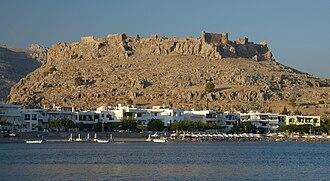 Feraklos Castle - Image: Feraklos Castle Haraki Rhodes E