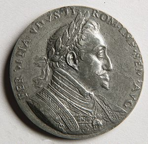Medalist - Commemorative medal for the Battle of White Mountain with portrait of Emperor Ferdinand II by Giovanni Pietro de Pomis