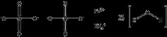 Ammonium iron(III) sulfate - Image: Ferric Ammonium Sulfate Dodecahydrate formula