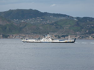 Ferry Giano crossing the Strait of Messina - Oct. 2009.jpg