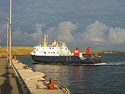 Ferry at Whale Geo pier, Westray - geograph.org.uk - 33804