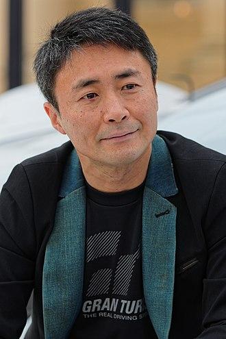 Kazunori Yamauchi - Yamauchi at the 30th International Automobile Festival in Paris, in 2015.