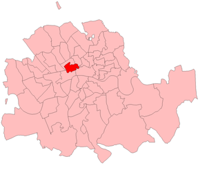 Holborn (UK Parliament constituency) - Holborn in the Metropolitan area, boundaries 1885-1918