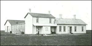 Government House (Saskatchewan) - First Government House shortly after construction in 1883.