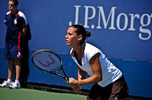 Flavia Pennetta - Pennetta reached the quarterfinals of the 2008 US Open, her first at a Grand Slam