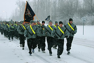 Fort Drum - 1st Battalion, 87th Infantry Regiment, on a run