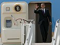Flickr - Official U.S. Navy Imagery - President Barack Obama waves to the crowd..jpg
