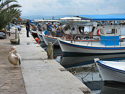 Flickr - ronsaunders47 - Working boats in a Lesbos harbour..jpg