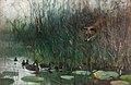 Flock of ducks and sneaky fox by Bruno Liljefors 1881.jpg