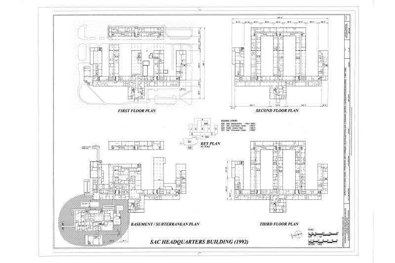 File Floor Plans Offutt Air Force Base Strategic Air Command Headquarters And Command Center Headquarters Building 901 Sac Boulevard Bellevue Sarpy County Ne Haer Ne 9 M Sheet 2 Of 6 Png Wikimedia Commons