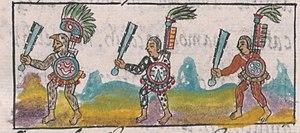 Militarismo Mexica 300px-Florentine_Codex_IX_Aztec_Warriors