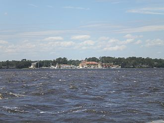 Florida Yacht Club - A distant view of the famous Florida Yacht Club in the Ortega neighborhood of Jacksonville, FL.