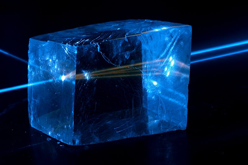 calcite blue light