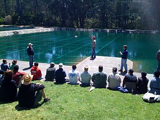 Casting (fishing) - Image: Fly Casting Workshop at the Golden Gate Park casting pools (3431879413)