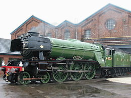 Flying Scotsman a Doncaster in livrea LNER