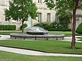 Fontenay Abbey - The Lodgings of the Commendatory Abbots - fountain (35701459141).jpg