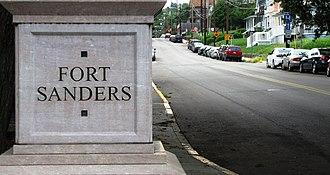 Fort Sanders, Knoxville - Image: Fort sanders neighborhood pillar tn 1