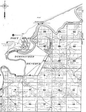 Pawnee, Kansas - Image: Fort Riley and Pawnee Kansas