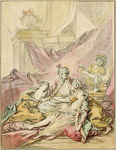 The Pasha in His Harem by Francois Boucher c. 1735-1739