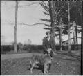 Franklin D. Roosevelt with one dog in Hyde Park - NARA - 196933.tif