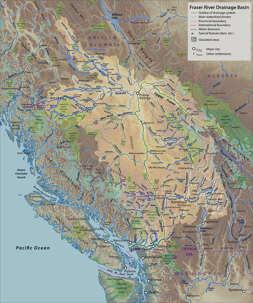 FileFraser River Basin Mapjpg Wikimedia Commons - River system map