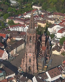 Luftaufnahme Freiburger Münster