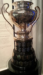 Photo of trophy at the Hockey Hall of Fame