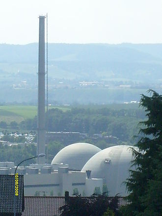 Neckarwestheim Nuclear Power Plant - A machine on the nuclear reactor Neckarwestheim-2