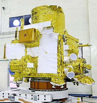 Chandrayaan-2 orbiter at integration facility GSLV Mk III M1, Chandrayaan-2 - Orbiter at SDSC SHAR 01.jpg
