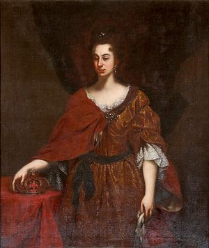 Anna Maria Franziska of Saxe-Lauenburg - Giovanni Gaetano Gabbiani, official portrait of Anna Maria as Grand Duchess of Tuscany