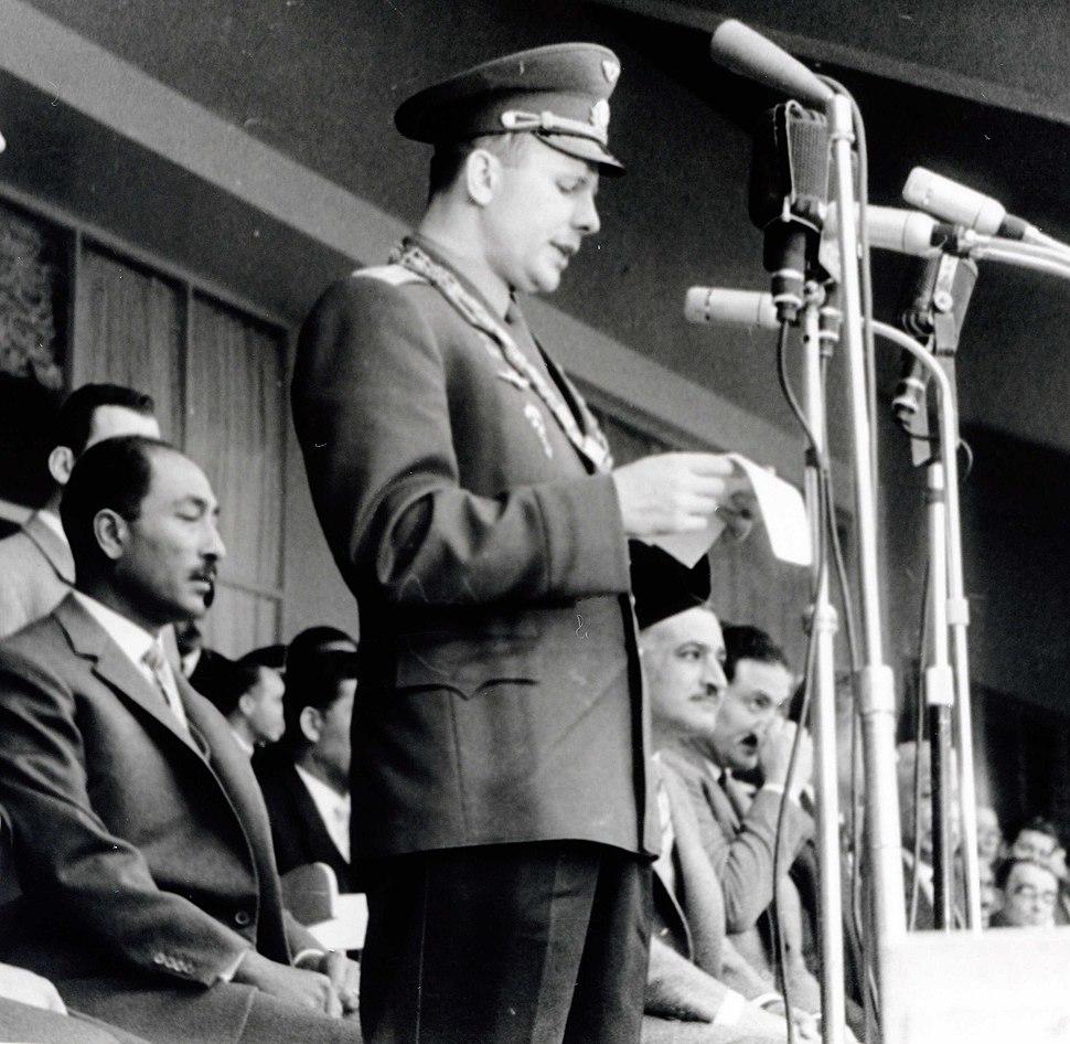 Gagarin and Nasser and Sadat in Cairo Egypt 01-02-1962