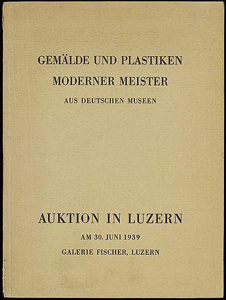 Theodor Fischer (auctioneer) - The catalogue for the 1939 sale at the Grand Hotel