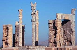 Iran - Ruins of the Gate of All Nations, Persepolis.