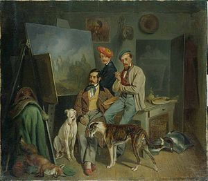 Franz Adam - The Adam Brothers (1848), by Benno Adam. Franz is in the middle.