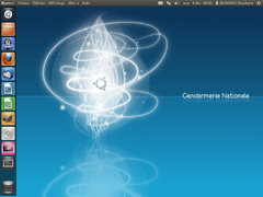 Screenshot of GendBuntu 12.04 Desktop