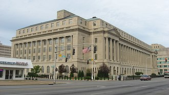 Gene Snyder United States Courthouse - View from the southwest
