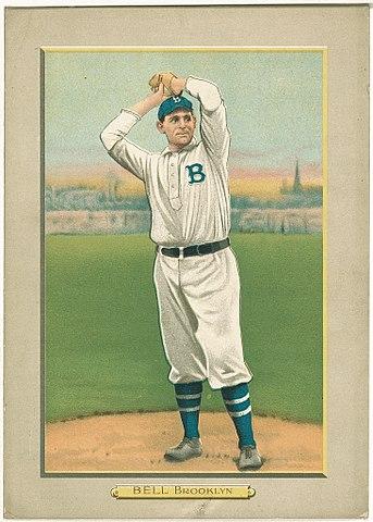 Filegeorge Bell Brooklyn Dodgers Baseball Card Portrait