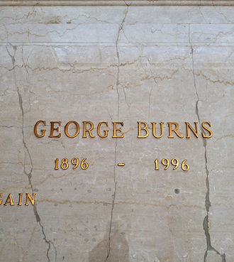 George Burns - Crypt of George Burns, in the Freedom Mausoleum, Forest Lawn Glendale